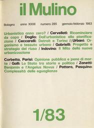 Copertina del fascicolo dell'articolo Urbanistica anno zero?