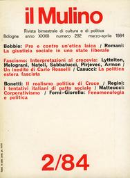 Copertina del fascicolo dell'articolo La politica estera dell'Italia fascista nel giudizio di Carlo Rosselli