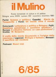 Copertina del fascicolo dell'articolo Letteratura e politica a Bologna. Il romanzo d'appendice su