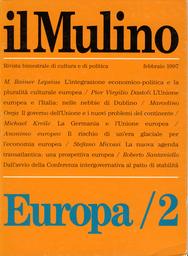 Copertina del fascicolo dell'articolo Il governo dell'Unione e i nuovi problemi del continente
