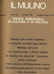 Copertina del fascicolo dell'articolo La politica dello Stato nei riguardi delle minoranze religiose