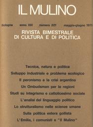 Copertina del fascicolo dell'articolo Alcune tendenze attuali nella sociologia della letteratura e nella critica sociologica