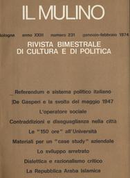 Copertina del fascicolo dell'articolo Dialettica e razionalismo critico. Analisi del dibattito metodologico tra Popper e la Scuola di Francoforte